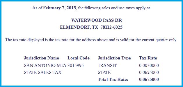 Current Sales Tax 2