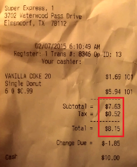 Current Sales Tax 3